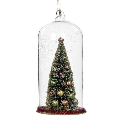 Weihnachtsbaum in Glas Kuppel