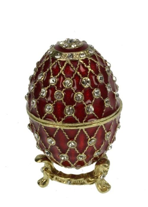 faberge Ei zu Fuß rot