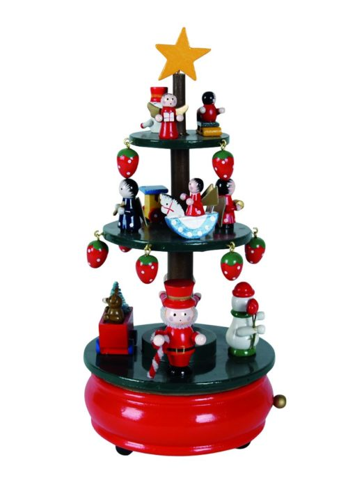 Rotating Christmas tree Music Box - 25 cm
