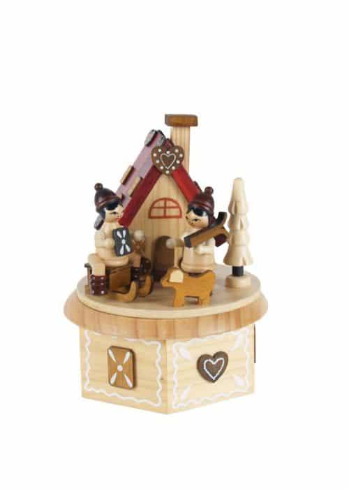 Lebkuchenhaus Spieluhr - 16 cm