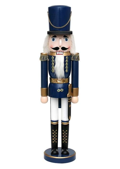 Nutcracker Soldier - blue metallic, XL