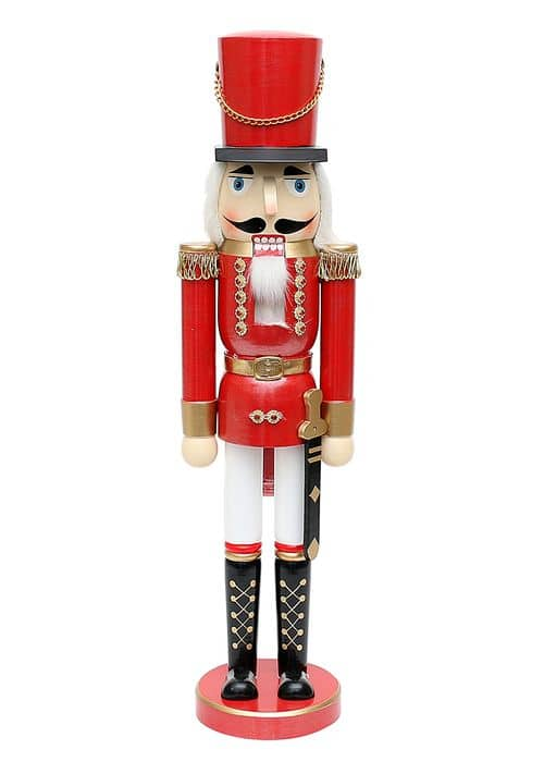 Nussknacker Soldat, rot metallic, XL