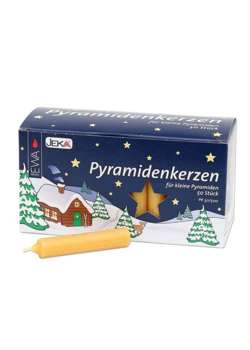 Pyramid candles, natur