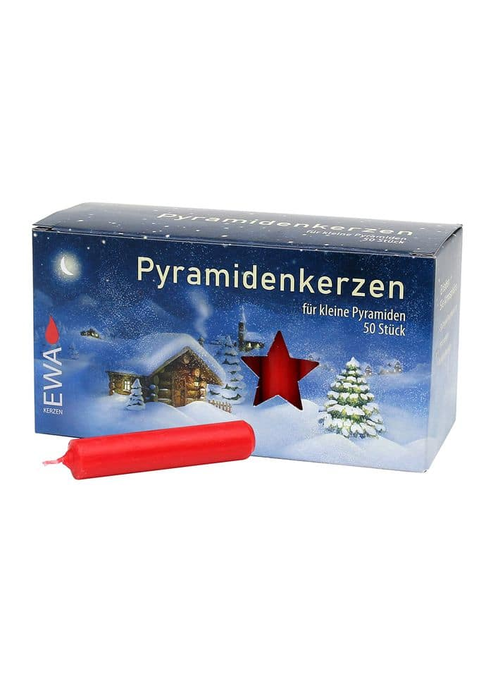 Pyramid candles, red