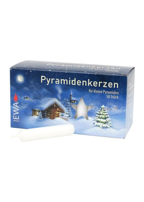 Pyramid candles, white