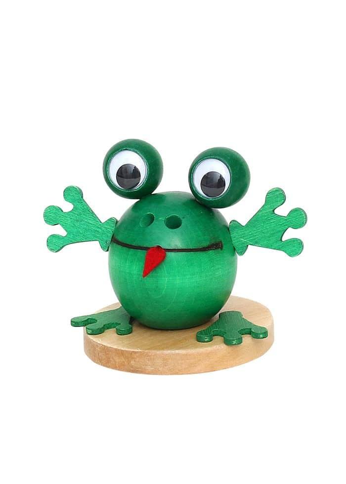 """Räucherfigur """"Frosch"""" grün"""